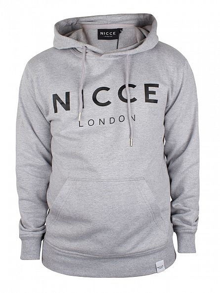 Nicce London Grey Original Logo Hoodie