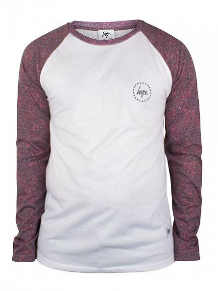 Hype White/Bloodline Longsleeved Raglan T-Shirt