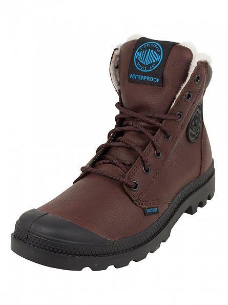 Palladium Chocolate/Black Pampa Sport Cuff WPS Boots