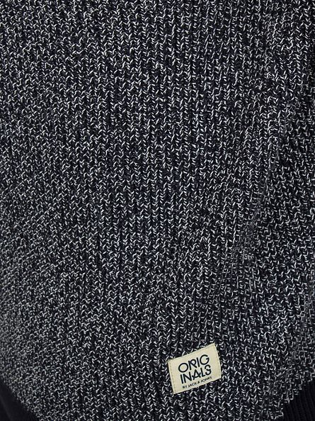 Jack & Jones Navy Blazer Blake Pattern Knit