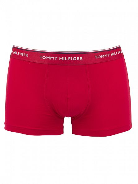 Tommy Hilfiger White/Tango/Peacoat 3 Pack Premium Essential Trunks