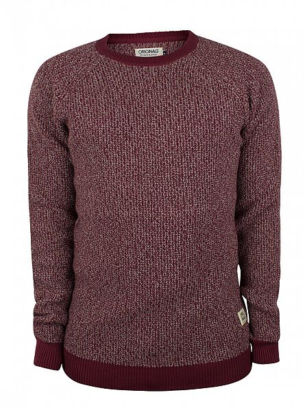 Jack & Jones Burgundy Blake Pattern Knit