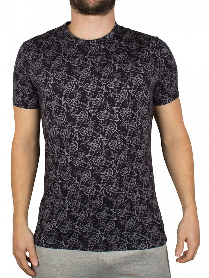Vivienne Westwood Black All Over Print T-Shirt
