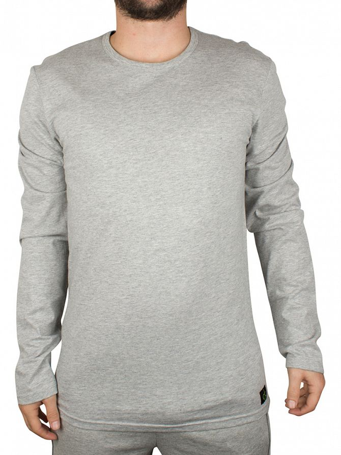 Calvin Klein Heather Grey Longsleeved Loungewear T-Shirt