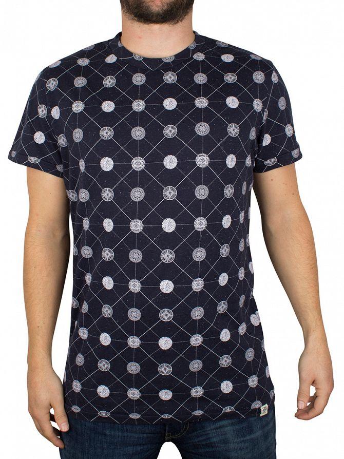 Jack & Jones Navy Blazer Edge Pattern T-Shirt