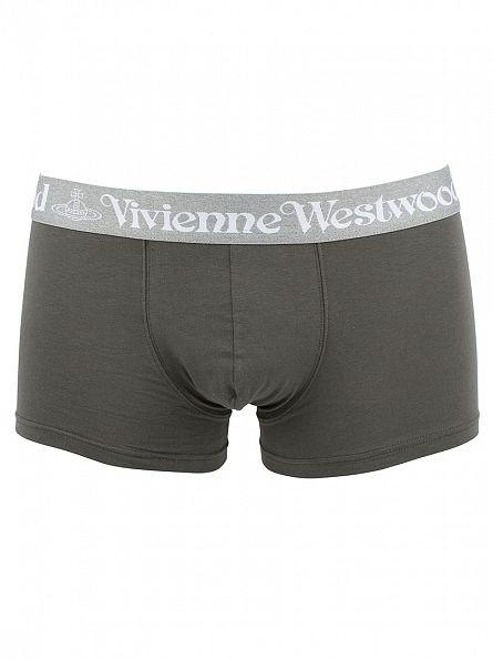 Vivienne Westwood Grey 2 Pack Logo Trunks