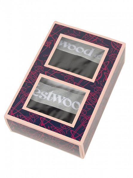 Vivienne Westwood Black 2 Pack Logo Trunks