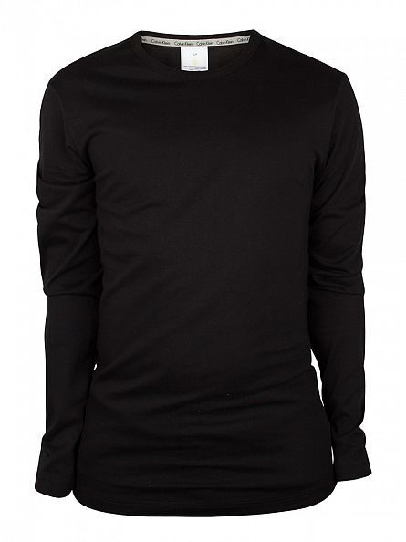Calvin Klein Black Longsleeved Loungewear T-Shirt