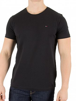 Tommy Hilfiger Denim Tommy Black Original Logo T-Shirt