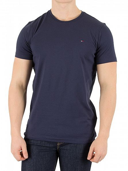 Tommy Hilfiger Denim Black Iris Navy Original Logo T-Shirt