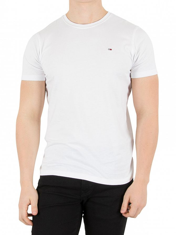 Hilfiger Denim Classic White Original Logo T-Shirt