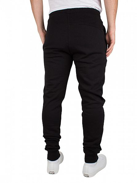 Criminal Damage Black/Charcoal Slim Logo Joggers