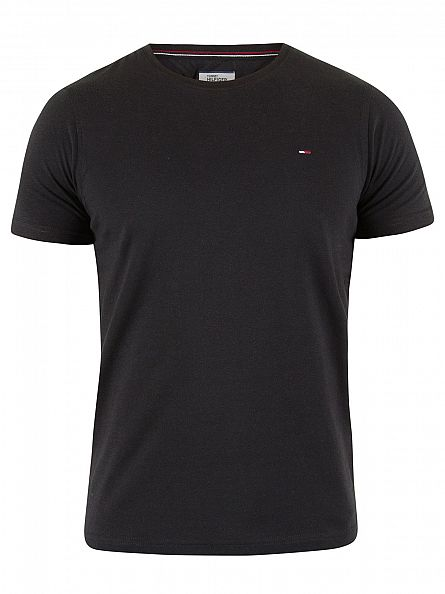 Hilfiger Denim Tommy Black Original Logo T-Shirt