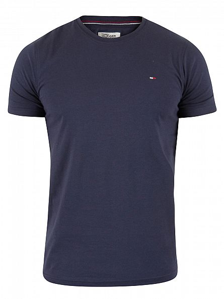 Hilfiger Denim Black Iris Navy Original Logo T-Shirt