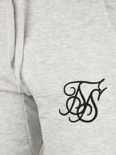 Sik Silk Grey Gym Fitted Logo Joggers