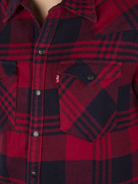 Levi's Red/Blue Barstow Western Checked Shirt