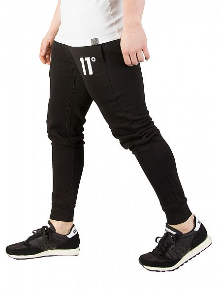 11 Degrees Black Base Logo Joggers