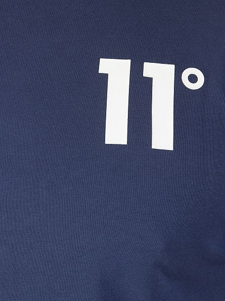11 Degrees Navy Core Logo T-Shirt