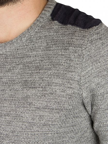 Jack & Jones Grey Melange Crosby Knit