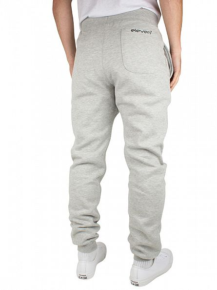 11 Degrees Grey Marl Base Logo Joggers