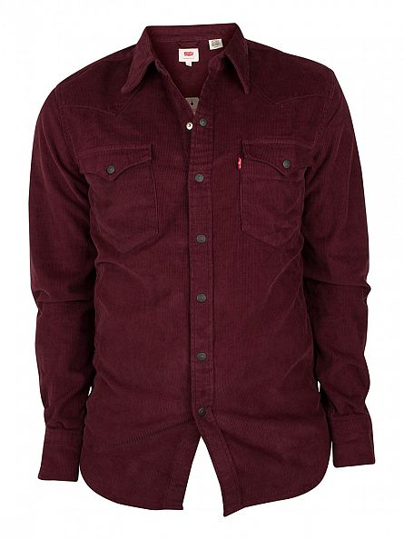 Levi's Merlot Red Barstow Western Shirt