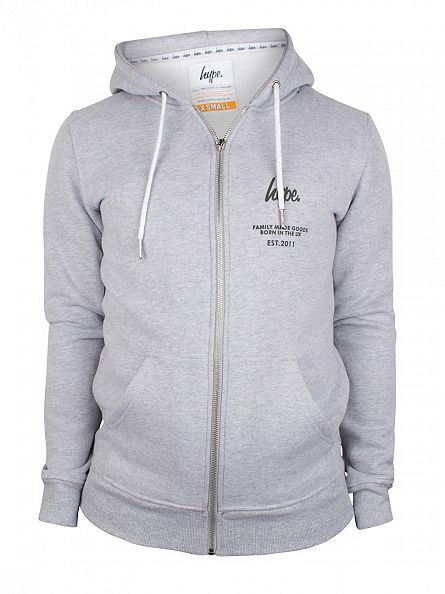 Hype Greytone Logo Zip Hoodie