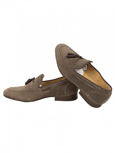 H by Hudson Taupe Pierre Slip On Shoes