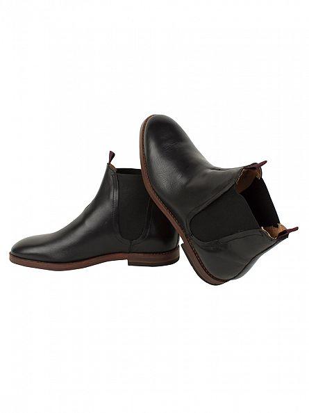 H by Hudson Black Tamper Chelsea Boots