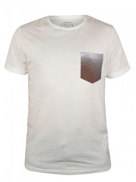 Jack & Jones Cloud Dancer Pock Pattern Pocket T-Shirt