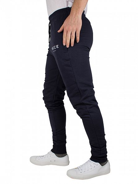 Nicce London Navy Original Logo Joggers