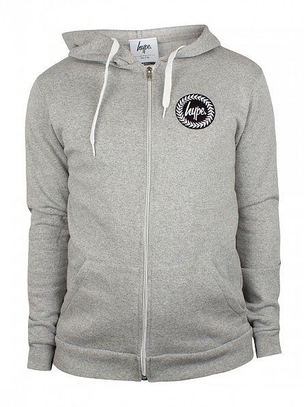 Hype Grey Crest Logo Zip Hoodie