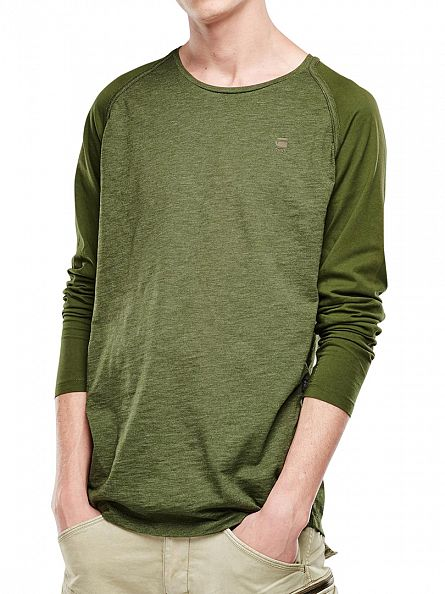G-Star Green Mazuren Regular Logo Longsleeved T-Shirt