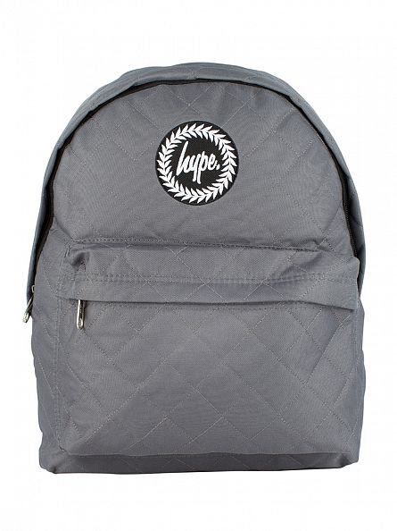 Hype Grey Quilted Logo Backpack