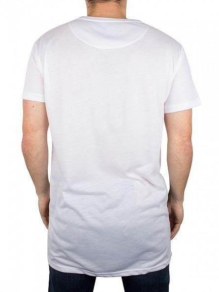 Sik Silk White Oversized Elongated Graphic T-Shirt