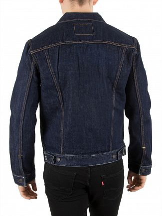Levi's Dark Denim Trucker Rinse Jacket