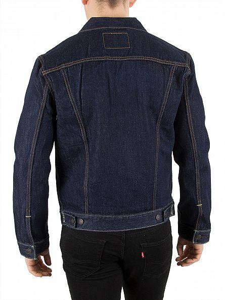 Levi's Dark Denim Trucker Rinse Jacket