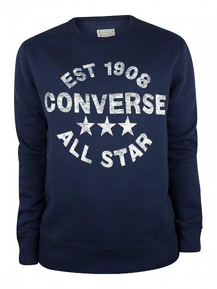 Converse Nighttime Navy Heritage Logo Sweatshirt