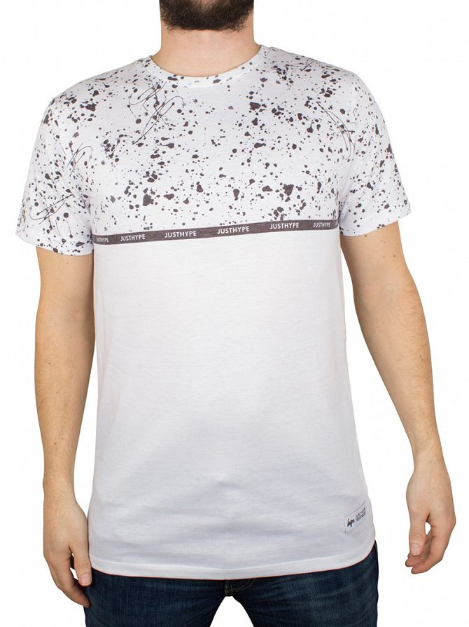 Hype White/Black Pollock Splat Print T-Shirt
