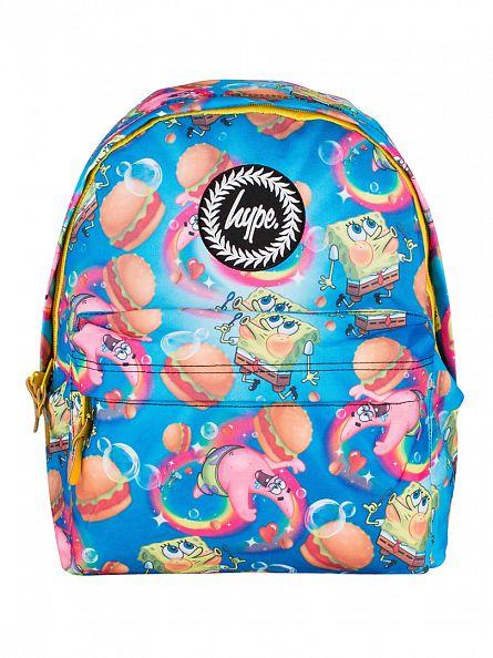 Hype Blue Spongebob Rainbow Bubbles Backpack