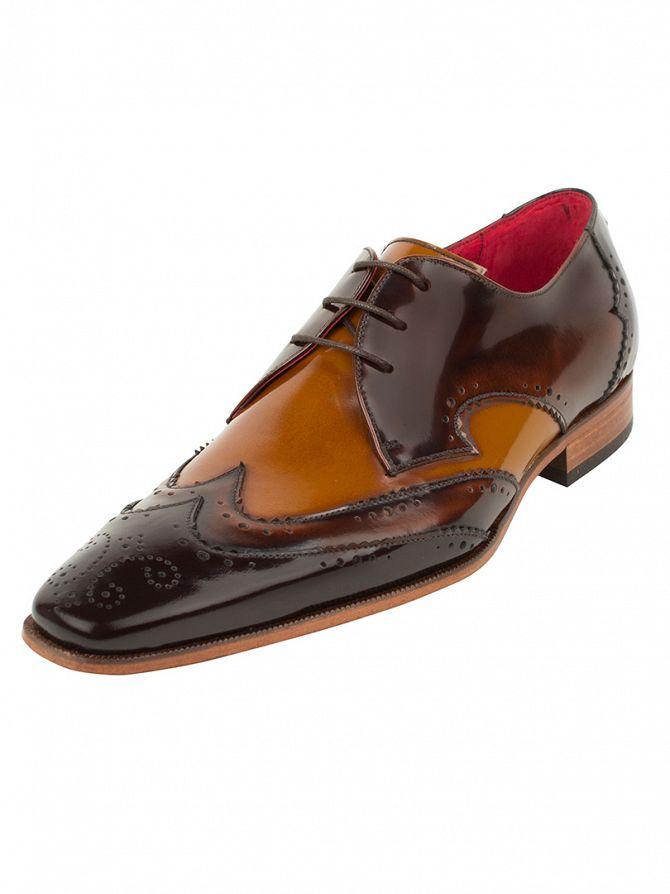 Jeffery West Dark Brown/Mid Brown Scarface Shoes