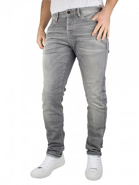 Scotch & Soda Cement Melange Ralston Stone And Sand Slim Fit Jeans