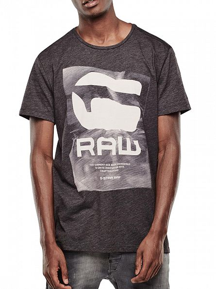 G-Star Black Lenk Raw Graphic T-Shirt
