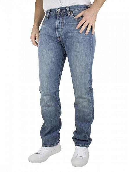 Levi's Light Denim 501 Nero Original Fit Jeans