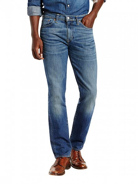 Levi's Light Blue 511 Mr White Slim Fit Jeans
