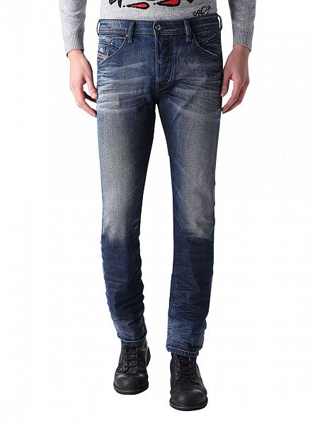 Diesel Dark Denim Waykee 0849B Regular Straight Jeans
