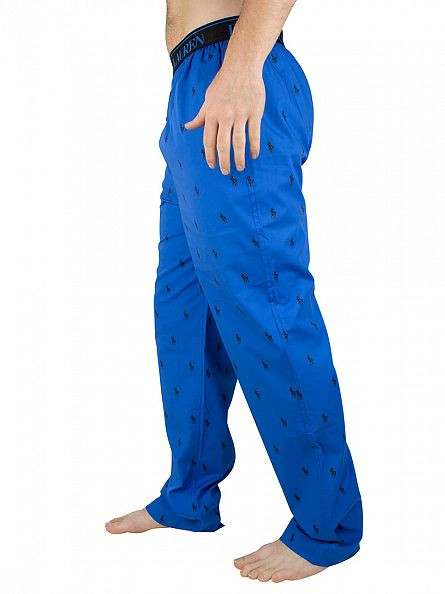 Polo Ralph Lauren Hydro Blue/Polo Black All Over Logo Print Pyjama Bottoms
