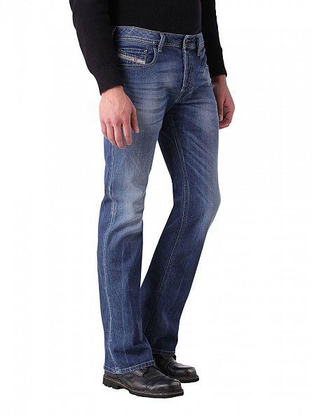 Diesel Blue Denim Zatiny 0848C Regular Bootcut jeans