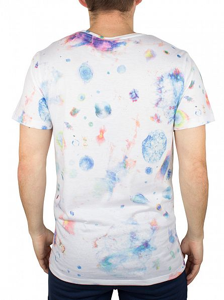 Hype White/Multi Space Script All Over T-Shirt