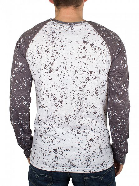 Hype White/Black Pollock Splat All Over Raglan T-Shirt