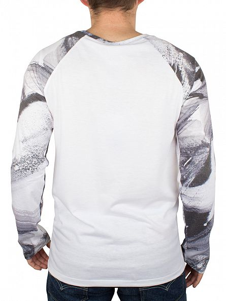 Hype White Brushstroke Raglan T-Shirt